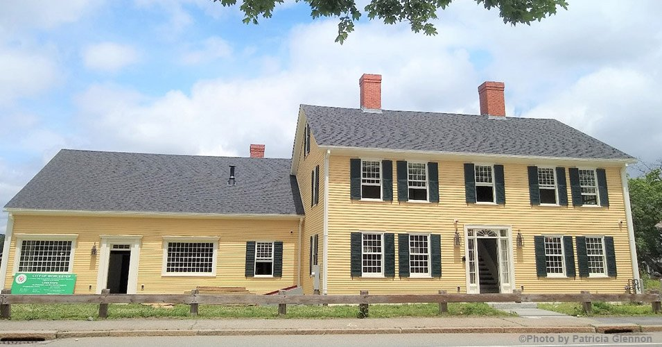 The renovated Stearns Tavern at its new location